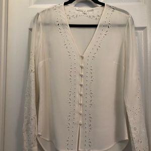 NWOT Veronica Beard ivory blouse.
